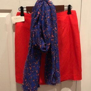 NWT Forever 21 linen/rayon skirt & EUC Scarf